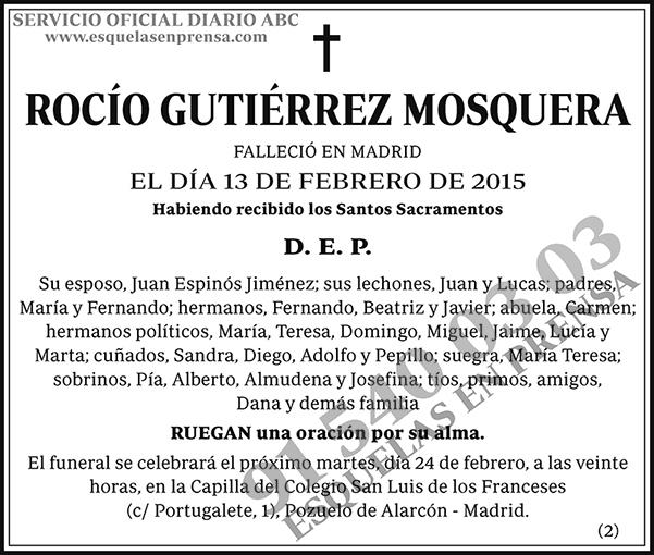 Rocío Gutiérrez Mosquera